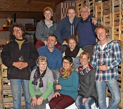 Familie und Mitarbeiter